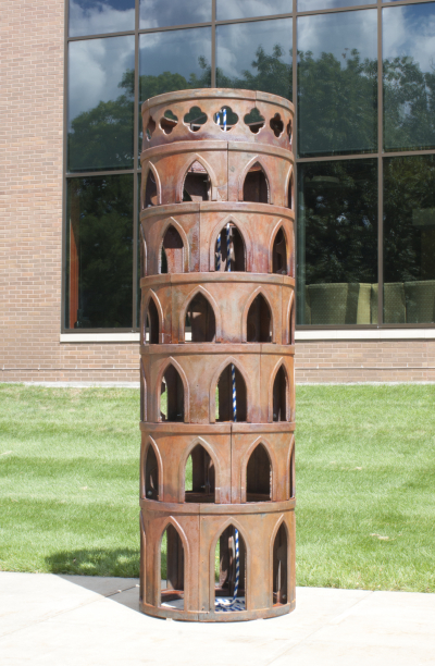 "Cast Iron sculpture titled ""Belfry"" by Edward V. Kelley"
