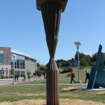 "Steel sculpture titled ""Questioning State"" by Drew Goerlitz"